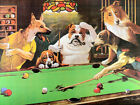 Dogs Playing Pool Art Fabric Poster HD Print Home Wall Decor Multi Sizes #HB103 $13.22 USD on eBay