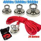 FISHING MAGNET 400/500/900 LBS Strong Neodymium Thick Eyebolt with 20m Rope