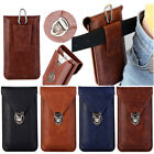 "Universal Phone 6"" Belt Loop Wallet Waist Bag Pouch Leather Holster Case Cover"