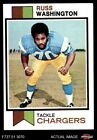 1973 Topps #199 Russ Washington Chargers EX/MT $0.99 USD on eBay