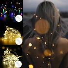 Party Home Decor Led Fairy String Lights Battery Warm White Rgb Rice Wire Copper