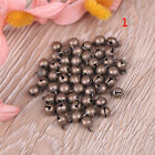 50Pc Small vintage bronze color alloy jingle bell pendant charm jewelry findinBS