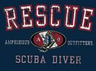 Amphibious Outfitters Scuba Diving T-Shirt - Rescue Diver - Navy Blue