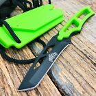 MASTER Green ABS Black TANTO NECK BOOT Lanyard Fixed Blade Tactical Knife i