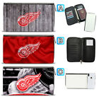 Detroit Red Wings Leather Travel Passport Holder Organizer Wallet $15.99 USD on eBay