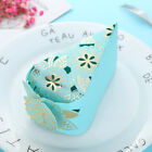 10 pcs Hollow Triangle Candy Box Wedding Cake Creative Favors Shower Bags Gift