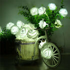 20 LED Rose Light String Fairy Lights For Bedroom Xmas Wedding Party Decor UK