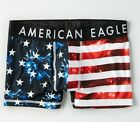 MENS UNDERWEAR AMERICAN EAGLE FIREWORKS BOXER BRIEFS (MEDIUM)