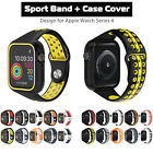 40mm 44mm Silicone Sport Apple Watch Band Strap + Case Cover for iWatch Series 4 image