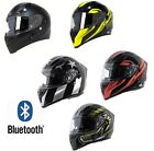 TORC T15 BLUETOOTH  MOTORCYCLE HELMET FULL FACE DUAL VISOR  ASSORTED COLORS