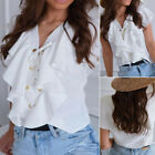 Women Blouse Tops Business Summer Lace up Casual Blouse Fashion Office Tops Boho