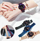 Luxury Solid Color Women Dress Watches Ladies Magnetic Starry Sky Wristwatches image