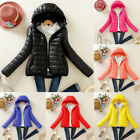 Winter Women Slim Hooded Coat zipper Trench Jacket Parka Outwear Overcoat New US