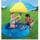Outdoor Water Activity Swimming Pool Durable Poly Plastic with Umbrella and Toys