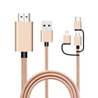 Gold Triple USB Option To HDMI Cable For SK-Phone X4