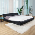 Kyпить King/Queen/Full PU Leather Platform Bed Frame Upholstered Headboard & Wood Slats на еВаy.соm