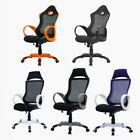 Executive Office Chair Racing Car Seat Reclining High Mesh Back Chair Available