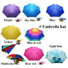 Headwear MultiColor Umbrella Hat Cap Beach Sun Rain Fishing Camping Hunting Z BS