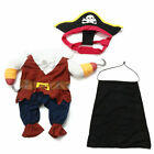 Pet Dog Cat Shirt Pumpkin Pirate Fancy Dress Costume Outfit Halloween Clothes US