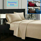 Queen King Deep Pocket Bed Sheets Set Fitted Flat 1800 Count Egyptian Comfort G5 image
