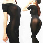 Women 100D Ice Silk Bodystocking Ultra Shiny Silky see through Bodysuit Catsuit