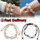 Cowrie Shell Bracelet White Shell Adjustable Anklet Beach Bloggers Fav Jewelry