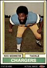 1974 Topps #416 Russ Washington Chargers EX/MT $0.99 USD on eBay
