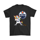 Hip Hop Dabbing Unicorn Flippin' Love Edmonton Oilers Black T-shirt  E066 $23.99 USD on eBay