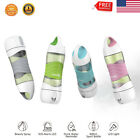 Sports Water Bottle Portable Drinking Water Reminder Cup Bottles 400ml LED Light image