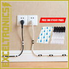 CABLE LEAD WIRE ORGANIZER LEAD TIDY CLIP USB CHARGER CORD HOLDER CLEAR...
