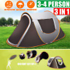 3-4 Person Waterproof Automatic Setup Family Camping Tents Outdoor Shelter