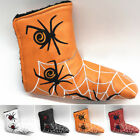 Golf Spider Web Blade Putter Cover Cap Head Cover Golf Club PU Leather Protect