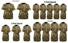 Scent Blocker Youth Cotton Short Sleeve Shirt (Multiple Pack, Realtree Xtra, S)