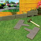 20/40pack Garden Lawn Edging Cobble Stone Plastic Plant Border Fencing Hammer In