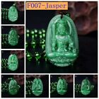 Yumten Amulet Necklace Crystal Buddha Pendant Guardian Lucky Stone Jewelry Gift