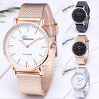 Fashion GENEVA Women Ladies Watch Black White Alloy Mesh Band Wrist Watches d image