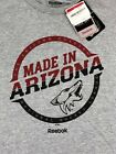 NHL Arizona Coyotes Reebok Made in AZ T-Shirt Short Sleeve Gray NWT Men M, L $11.99 USD on eBay
