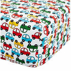 Catherine Lansfield Transport Easy Care Fitted Sheet, Bright