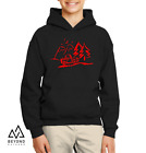 Jeep Parked by Mountains Youth Kids Hoodie