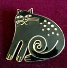 RARE LAUREL BURCH BLACK KESHIRE CAT PPENDANT AND BROOCH  MINT!