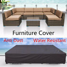 Waterproof Garden Patio Furniture Sofa Cover Rattan Dining Table Cover Outdoors