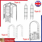Metal Arbour Rose Arch Garden Climbing Plant Frame Gate Romantic Pergola Wedding