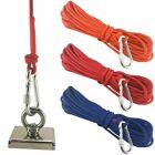 Strong Fishing Magnet Rope 10M/20M Nylon Line Braided Cord With Safe Carabiner
