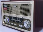 Large Retro Radio AM FM SW Bluetooth USB TF Rechargeable or Battery 4