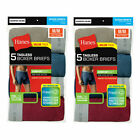 Hanes 10 Pack Mens Underwear Tagless Boxer Briefs Assorted Solid Colors