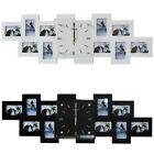 20 Inches Wall Clock Photo Frame Large Digital Wooden Home Decor Black And White