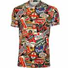 DSquared2 Beer Bottle Logos Print Crew-Neck Men's T-Shirt, Black/Multi