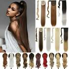real long thick wrap around ponytail hair extensions clip in ponytail one piece