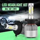 H4/H7/H11 36W 16000LM LED Headlight 6000K White The Cars Auto Beam Bulbs HI/LO