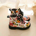 Baby Kids Boys Girl Winter Warm Floral Fur Lined Shoes Ankle Boots Chelsea Shoes